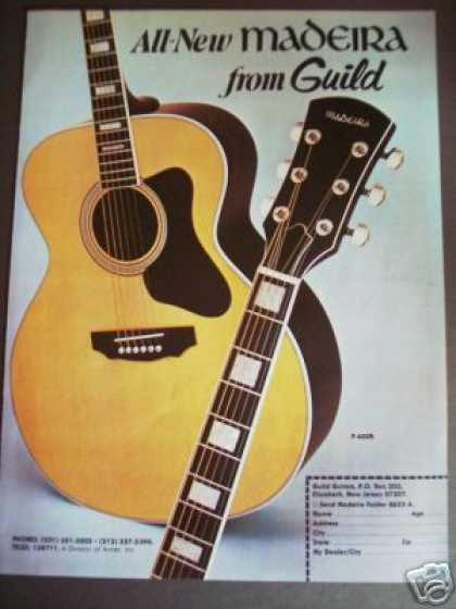 New Madeira From Guild Guitar Photo (1978)