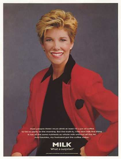 Joan Lunden Milk Mustache Photo (1995)
