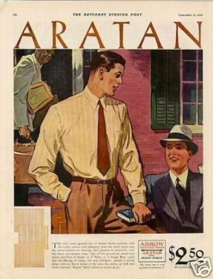 Arrow Shirts Color Ad 2 Page (1930)