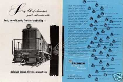 Baldwin Locomotive Ad Southern Pacific Vo Switcher (1943)