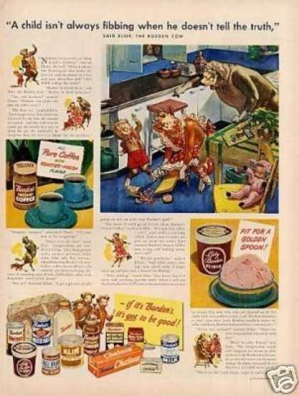 "Borden's Ad ""A Child Isn't Always Fibbing.. (1949)"