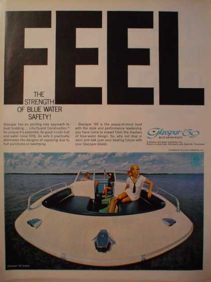 Glaspar Motor Boats Boat Strength of blue water safety (1968)