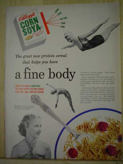 Kellogg's Corn Soya Great new protein Cereal (1950)