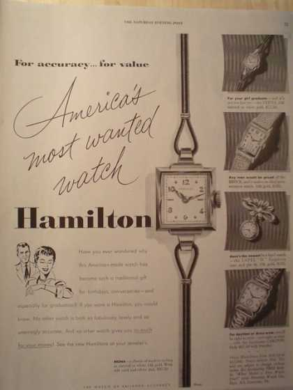 "Hamilton Watches ""America's Most Wanted Watch"" (1952)"