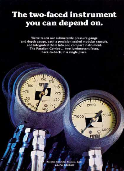 Farallon Modular Instruments Diver Gauges (1975)