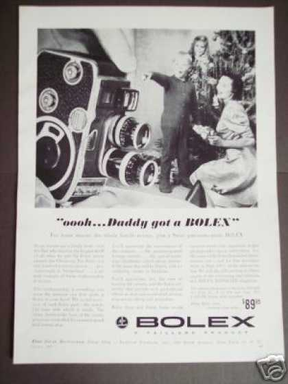 Bolex Home Movie Camera for Christmas Photo (1957)