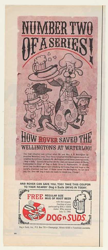 Dog n Suds Restaurant Rover Saved Wellingtons (1968)