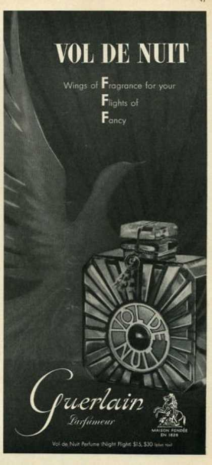 Guerlain Vol De Nuit Perfume Bottle - (1952)