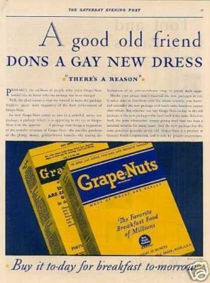 Grape-nuts Cereal (1930)