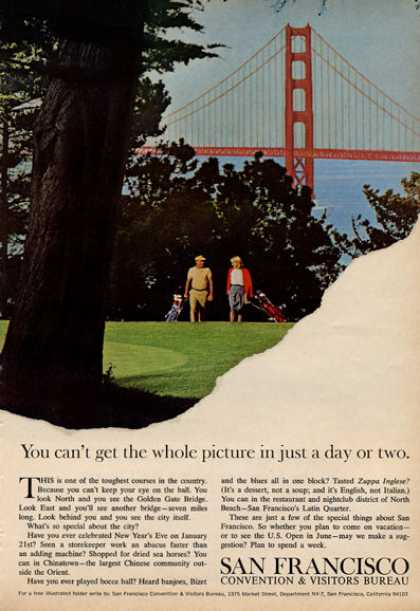 San Francisco Travel Bureau Golf Golden Gate (1966)