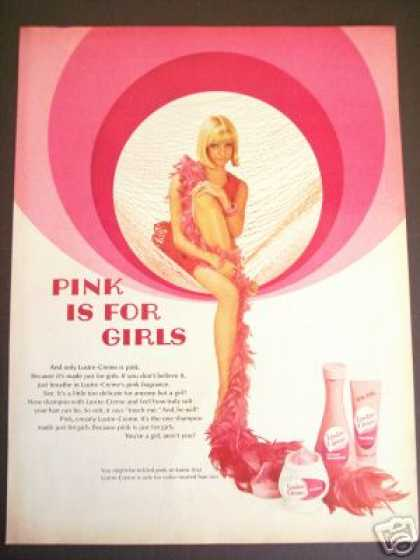 60's Pink for Girls Sexy Model Lustre Creame (1968)