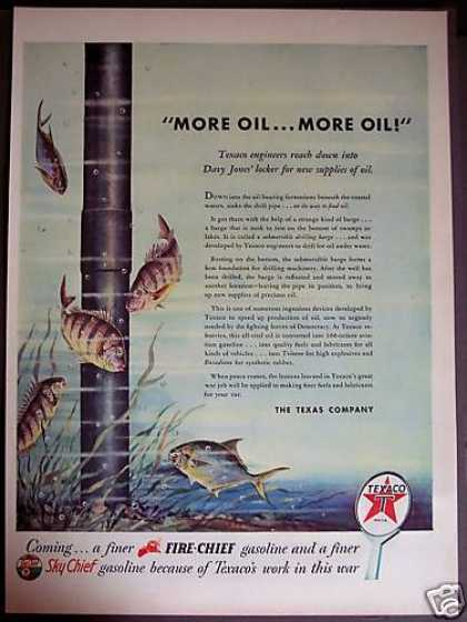 Drill for Oil Under Water Sky Chief Gas (1944)