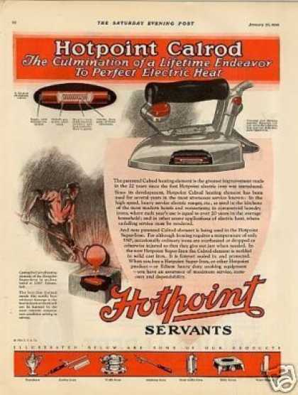 Hotpoint Iron Color Ad 2 Page (1926)