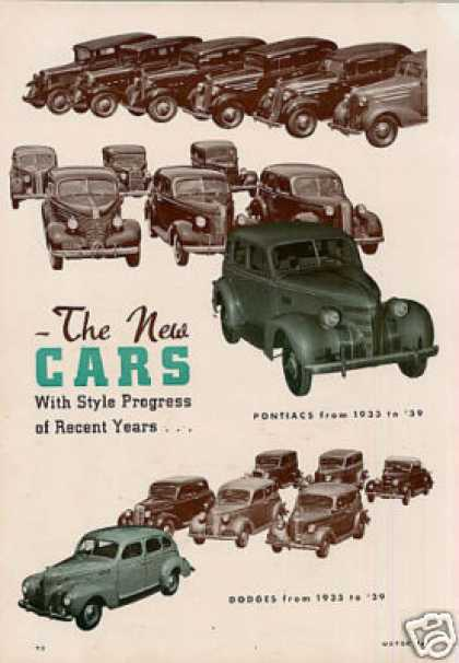 """The New Cars-with Style Progress Of..."" Article (1938)"