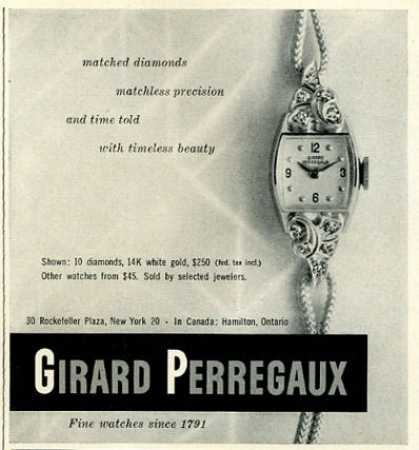 Girard Perregaux Diamond Ladies Watch (1951)