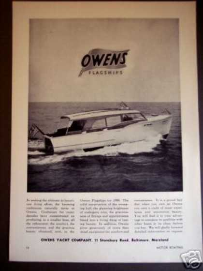 Owens Yacht Co. Flagships for Boat Photo (1950)