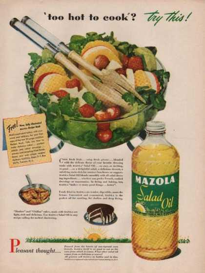 Mazola Salad Oil Too Hot To Cook (1949)