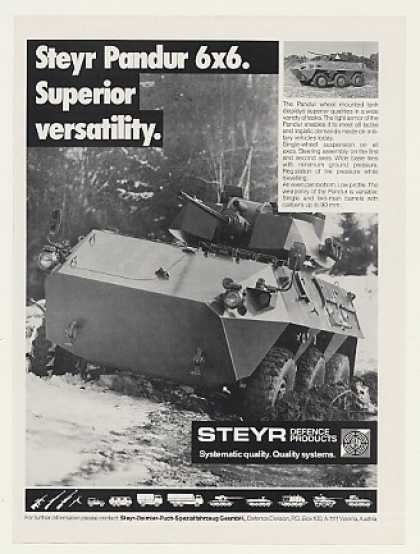Steyr Pandur 6x6 Wheel Mounted Tank Photo (1988)