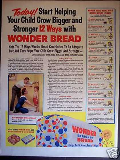 Wonder Bread Stong Bodies 12 Ways (1957)