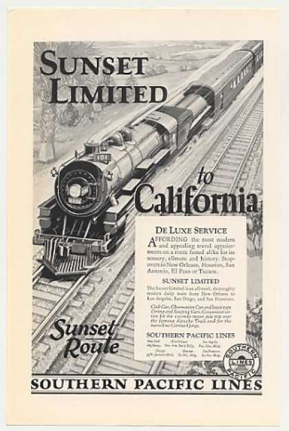 Southern Pacific Lines Sunset Limited Train (1926)