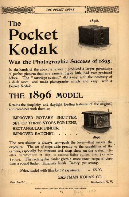 Kodak – The Pocket Kodak (1896)