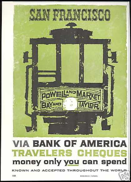 San Francisco Trolley Bank of America (1961)