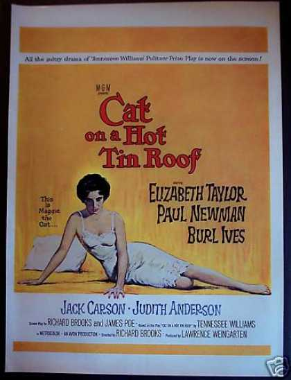 Cat On a Hot Tin Roof Movie Promo Ad Paul Newman (1958)