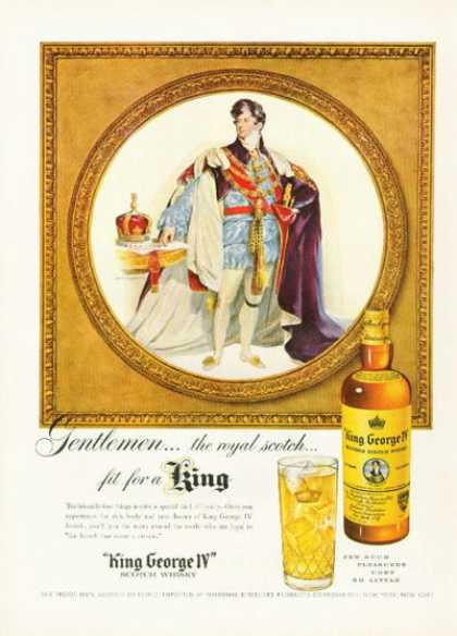King George Iv Whisky Bottle (1955)