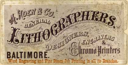 A. Hoen & Co., lithographer's Wood Engraving and Fine Steam Job Printing – A. Hoen & Co, General Lithographers