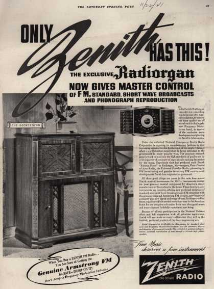 Zenith Radio Corporation's Radio Phonograph – ONLY ZENITH HAS THIS (1941)