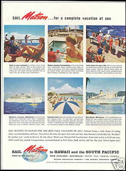 Matson Cruise Line Ship Vintage Photo (1959)