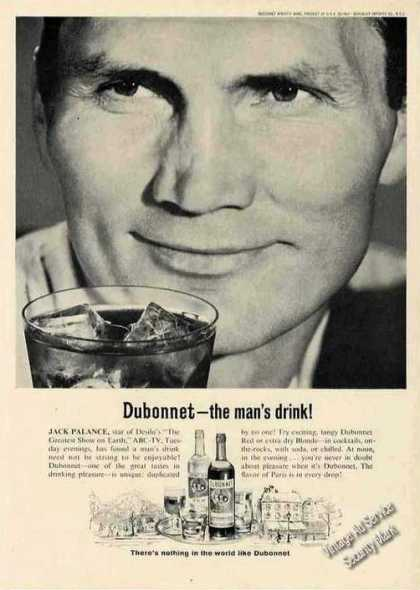 "Jack Palance Photo Dubonnet ""The Man's Drink!"" (1963)"