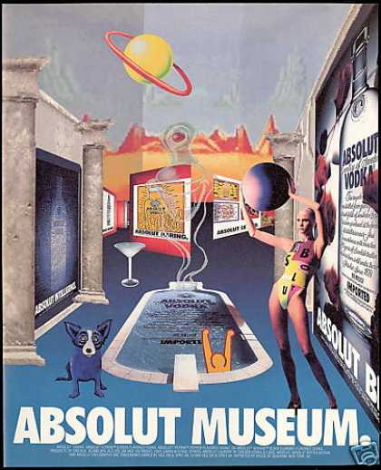 Absolut Museum Vodka Past Advertisements (1994)