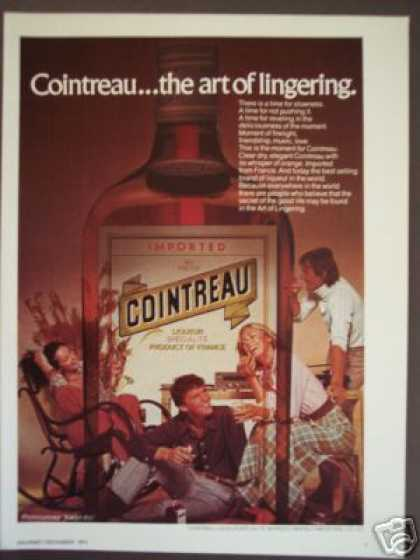 Cointreau French Liqueur Bottle (1974)