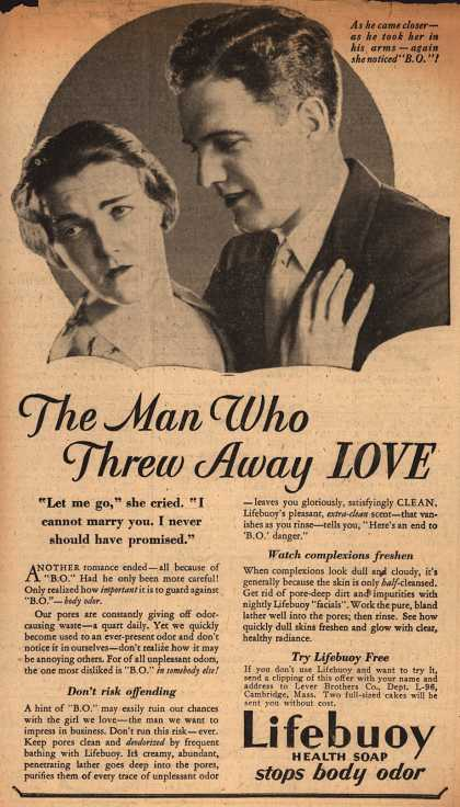 Lever Brothers Company's Lifebuoy Health Soap – The Man Who Threw Away Love (1931)