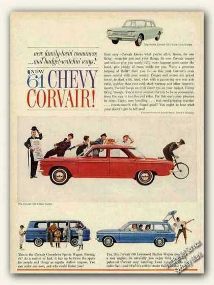Chevrolet Chevy Corvair (4) Cars (1961)