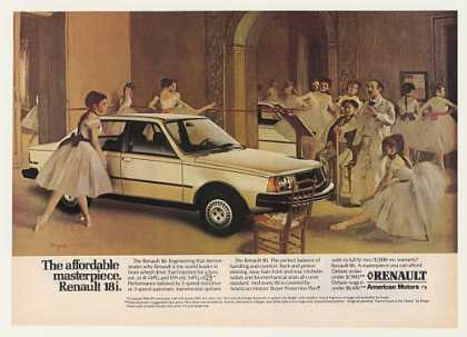 Renault 18i Sedan Dance Foyer Opera Degas art (1982)