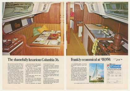 Columbia 36 Yacht Boat Interior Photo (1969)