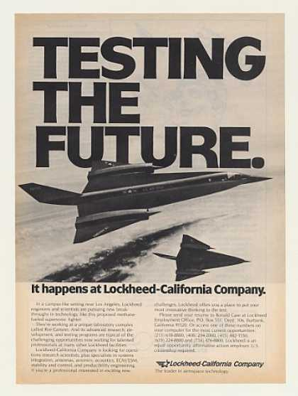 Lockheed US Air Force Future Supersonic Fighter (1983)