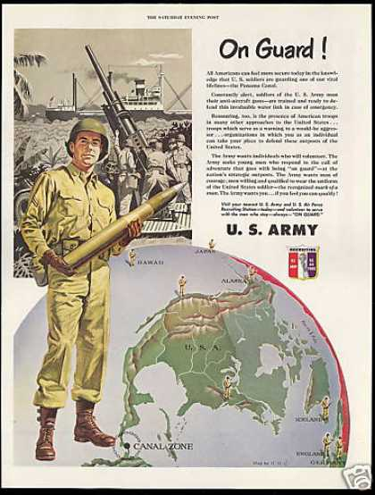 U.S US Army Soldier Recruiting Panama Canal (1951)