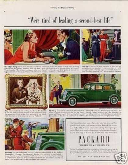 Packard Six 5-passenger Coupe Color (1937)
