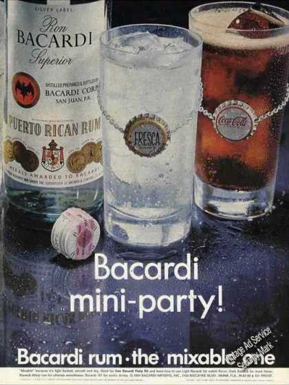 "Bacardi With Fresca or Coke ""Mini-party!"" (1969)"