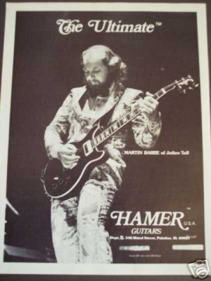 Martin Barre of Jethro Tull Photo Hamer Guitar (1979)