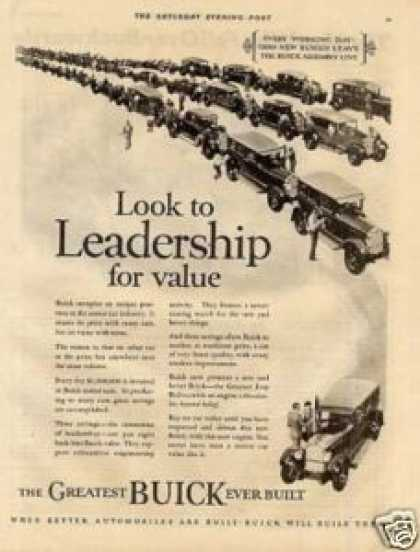 "Buick Car Ad ""Look To Leadership... (1926)"