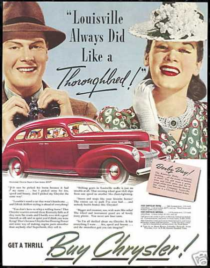 Chrysler Royal 4 Door Sedan Car Kentucky (1939)