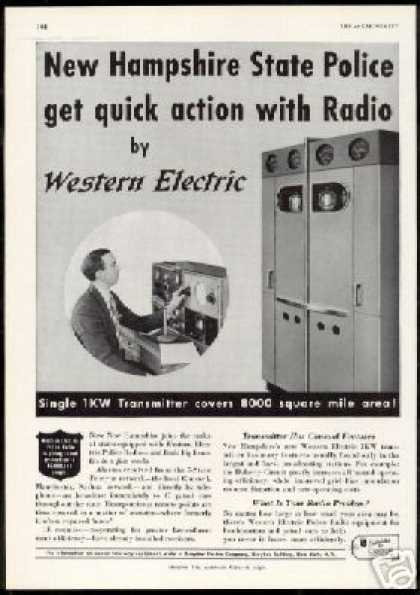 New Hampshire Police Western Electric Radio (1940)