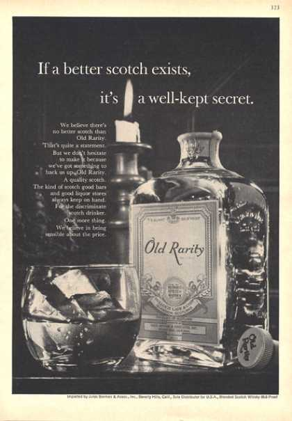 Rare Old Rarity Scotch Bottle (1964)
