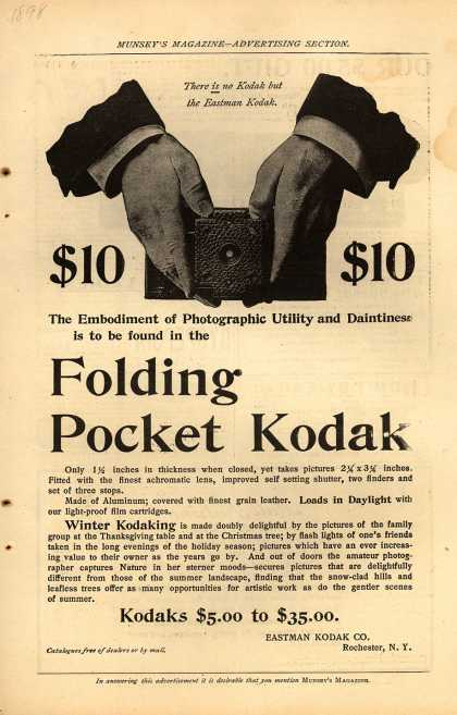 Kodak's Folding Pocket cameras – Folding Pocket Camera (1898)