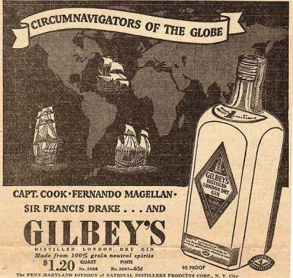 Gilbey's Distilled London Dry Gin (1936)