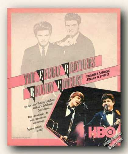 Everly Brothers Photo Concert Promo (1984)